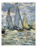 The Boats, or Regatta at Argenteuil Reproduction d'art par Claude Monet