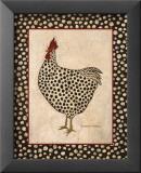 Spotted Chicken Reproduction laminée et encadrée par Warren Kimble