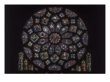 Notre-Dame Cathedral of Chartres  Rose Window on the Northern Side