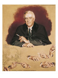 "Study of Franklin Delano Roosevelt for the Painting ""Big Three at Yalta"""