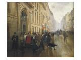 Leaving the Conservatoire in Paris
