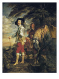King Charles I of England Out Hunting
