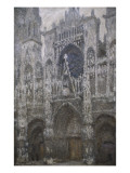 Rouen Cathedral  West Portal  Dull Weather