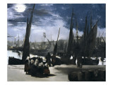 Moonlight over the Port of Boulogne