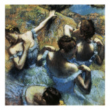 Danseuses bleues Reproduction d'art par Edgar Degas