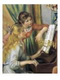 Jeunes filles au piano Reproduction d'art par Pierre-Auguste Renoir