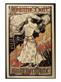 Poster Announcing the Performance of Joan of Arc by Sarah Bernhardt in the Renaissance Theater