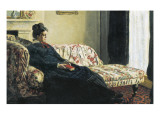 Meditation  or Madame Monet on the Sofa