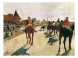 The Parade, or Race Horses in Front of the Stands Reproduction d'art par Edgar Degas