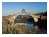 Pont Del Diable (Evil's Bridge) over the Llobregat River  with Gothic Central Arch on a Roman Basis