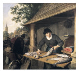 A Woman Selling Fish
