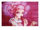 Cotton Candy Curly Cue Reproduction d'art par Camilla D'Errico