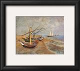 Fishing Boats on the Beach at Saints-Maries  c1888