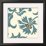 Teal Floral Motif IV