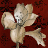 Amaryllis on Red I