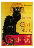 Chat Noir Reproduction d'art par Théophile Alexandre Steinlen