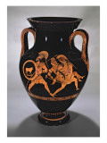 Attic Red-Figure Belly Amphora Depicting the Abduction of Antiope with Theseus and Pirithous