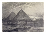 The Pyramids of Giza  from a Series of the 'seven Wonders of the World'  1886
