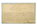 Handwritten Dedication of &#39;Brandenburger Concertos&#39; to Christian Ludwig  Margrave of Brandenburg