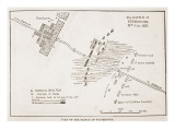 Plan of the Battle of Futtehpore  12th July 1857  from 'Cassell's Illustrated History of England'