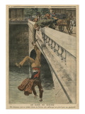 On the Brink of Suicide  Illustration from &#39;Le Petit Journal&#39;  Supplement Illustre  19th June 1910