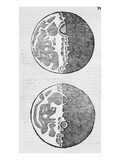 Maps of the Moon  Illustration from 'sidereus Nuncius' by Galileo Galilei  1610