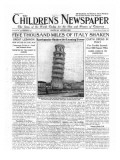 Five Thousand Miles of Italy Shaken  Front Page of 'The Children's Newspaper'  September 1920
