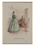 Mrs Gresham and Miss Dunstable: an Illustration to &#39;Framley Parsonage&#39;  1861