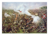 Battle of Five Forks  Virginia  1st April 1865  Engraved by Kurz and Allison  1886
