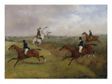 The Grand Leicestershire Steeplechase: Dick Christian's Last Fall - Commonly Called 'A Header'
