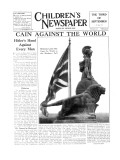 Britannia Looks Out Upon the World as the Shadows Fall  Front Page of 'The Children's Newspaper'
