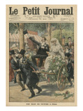 A Wedding on a Handcart  Illustration from 'Le Petit Journal'  Supplement Illustre  15th May 1910