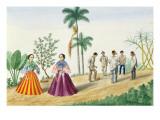 Filipinos Playing Football  from 'The Flebus Album of Views in and around Manila'  C1845