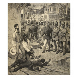 The Execution of a Frenchman in Port-Au-Prince  Haiti  from 'Le Petit Parisien'  21st June 1891