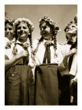 Girls in Happy Mood  from 'Germany: the Olympic Year'  Pub by Volk Und Reich Verlag Berlin  1936