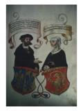 Georg Fugger and His Wife Regina Imhoff  from 'Geheim Ehrenbuch Des Fuggerschen Geschlechts'