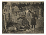A Street in Whitechapel: the Last Crime of Jack the Ripper  from 'Le Petit Parisien'  1891