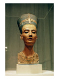 Bust of Queen Nefertiti  Front View  from the Studio of the Sculptor Thutmose at Tell El-Amarna