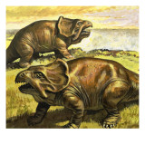 Protoceratops  Illustration from &#39;In the Days of the Dinosaurs  Discovery in the Desert&#39;  1980