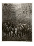 Newgate - Exercise Yard  from 'London  a Pilgrimage'  Written by William Blanchard Jerrold