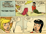 Archie Comics Retro: Betty and Veronica Comic Strip; Picture That (Aged)