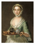Portrait of a Young Woman  Possibly Hannah  the Artist's Maid  Holding a Tea Tray