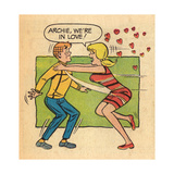 Archie Comics Retro: Archie and Betty Comic Panel; Archie  We're in Love! (Aged)