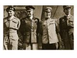 Field Marshal Montgomery  General Eisenhower  Marshal Zhukov  and General De Lattre De Tassigny