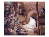 The Adoration of the Shepherds  Illustration for 'The Life of Christ'  C1886-94