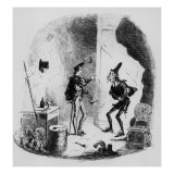 Nicholas Instructs Smike in the Art of Acting  Illustration from `Nicholas Nickleby'