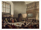 Court of Exchequer  Westminster Hall  from 'The Microcosm of London'  Engraved by J C Stadler