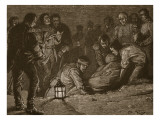 Burial of Sir John Moore  Illustration from &#39;Cassell&#39;s Illustrated History of England&#39;