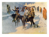 Zebulon Pike Entering Santa Fe  Illustration Published in &#39;Collier&#39;s Weekly&#39;  1906