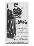 Front Cover Illustration of the Catalogue for the 6th Salon D'Automne at the Grand Palais  Paris
